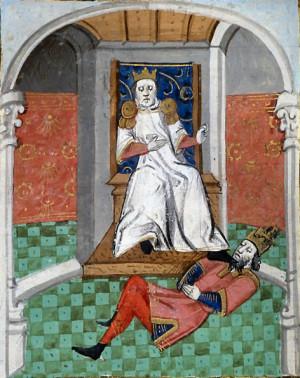 Alp Arslanhumiliating Emperor Romanos IV