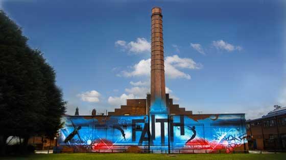 Faith Mural Birmingham by Mohammed Ali (c)