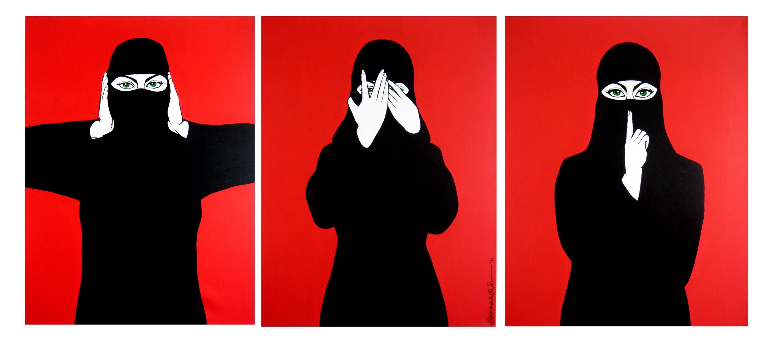 Hear No Evil, See No Evil, Speak No Evil by  Hannah Habibi Hopkin (c)