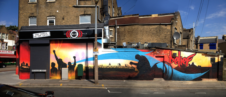 Leyton, East London Wall by Mohammed Ali (c)