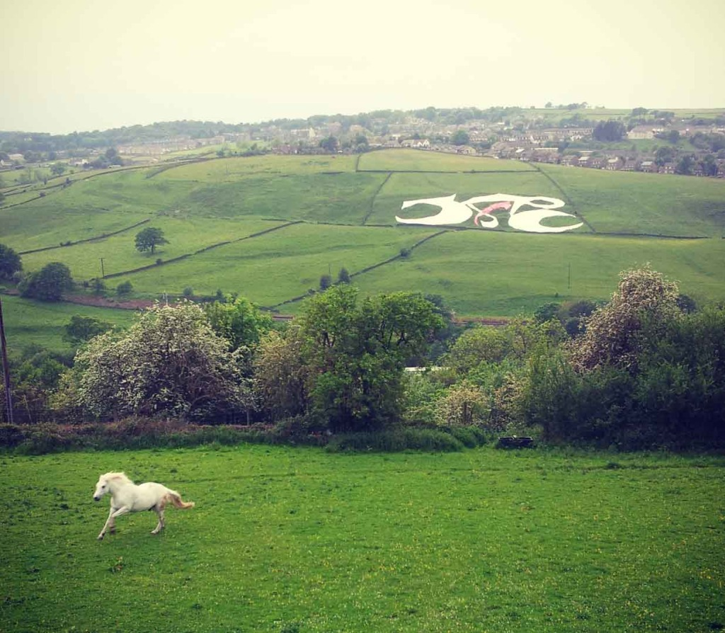 Al Asr, the Time, land art for the Grand Depart, Yorkshire, Tour de France 2014 (c) Razwan Ul-Haq
